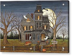 Haunted House Acrylic Print by David Carter Brown