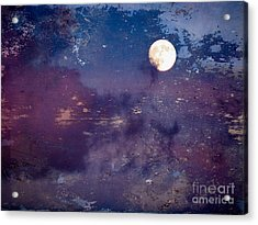 Haunted Moon Acrylic Print by Roselynne Broussard