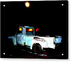 Acrylic Print featuring the digital art Haunted Truck by Cathy Anderson