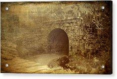 Haunted Tunnel Acrylic Print by Kathy Jennings