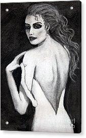 Haunting Lady Acrylic Print