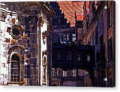 Acrylic Print featuring the photograph Hausmann Tower In Dresden Germany by Jordan Blackstone