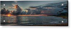 Hauula Sunrise Panorama Acrylic Print