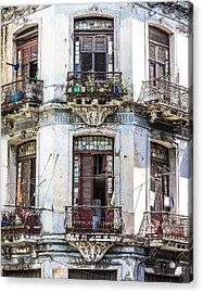 Havana Balconies Acrylic Print by Jim Nelson