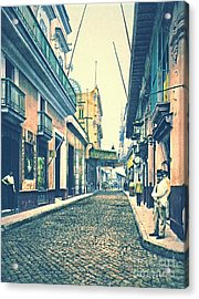 Havana Street Cuba 1899 Acrylic Print by Padre Art