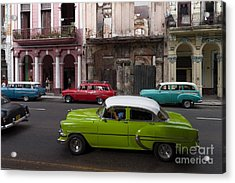 Acrylic Print featuring the photograph Havanna Traffic by Juergen Klust