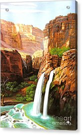Havasu Falls Grand Canyon Acrylic Print