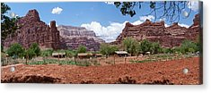 Acrylic Print featuring the photograph Havasupai Village Panorama by Alan Socolik