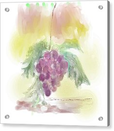 Have A Grape Day Acrylic Print by Peggy Bosse