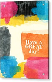 Have A Great Day- Colorful Greeting Card Acrylic Print