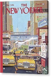 New Yorker March 7th, 1994 Acrylic Print by Bruce McCall