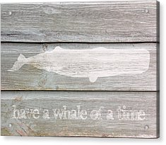 Have A Whale Of A Time Acrylic Print by Celestial Images