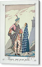 Have No Fear Little One Acrylic Print by Georges Barbier