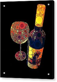 Have Some Wine Acrylic Print by Cindy Edwards