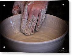 The Potter Acrylic Print by Skip Tribby