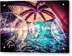 Having A Ball Acrylic Print by Ray Warren