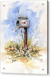 Havlik's Mailbox Acrylic Print