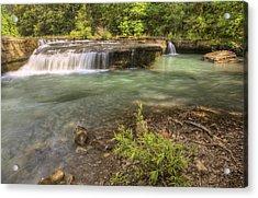 Haw Creek Falls Basin - Ozarks - Arkansas Acrylic Print by Jason Politte