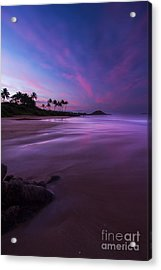 Hawaii First Light Sunrise Acrylic Print by Dustin K Ryan