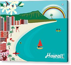 Hawaii Acrylic Print by Karen Young