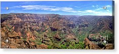 Hawaii Kauai Waimea Canyon Beautiful Panorama Acrylic Print