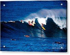 Hawaii Oahu Waimea Bay Surfers Acrylic Print