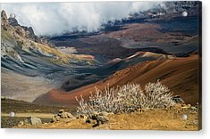 Hawaii Volcano Landscape Acrylic Print by Pierre Leclerc Photography
