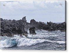 Hawaii Waves V1 Acrylic Print by Douglas Barnard