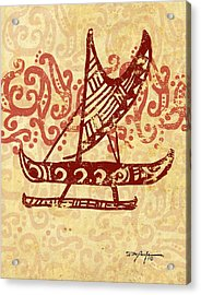 Hawaiian Canoe Acrylic Print by William Depaula