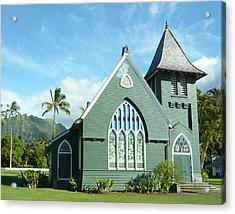 Hawaiian Church Acrylic Print by Dee  Savage