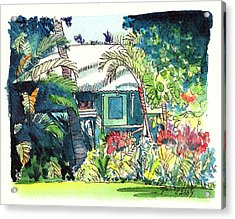 Acrylic Print featuring the painting Hawaiian Cottage 3 by Marionette Taboniar