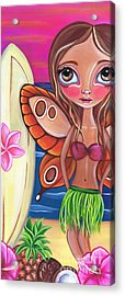 Hawaiian Fairy Acrylic Print by Jaz Higgins
