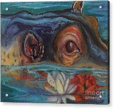 Hawaiian Hippo Acrylic Print