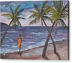 Hawaiian Maiden Acrylic Print by Darice Machel McGuire