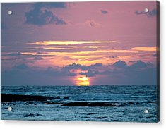 Acrylic Print featuring the photograph Hawaiian Ocean Sunrise by Lehua Pekelo-Stearns