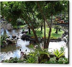Hawaiian Pond  Acrylic Print by Dee  Savage
