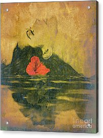 Hawaiian Reflection Wahine Kai Acrylic Print by Laura  Gundy