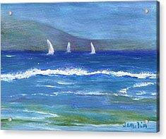 Acrylic Print featuring the painting Hawaiian Sail by Jamie Frier