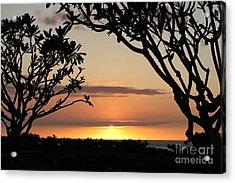Hawaiian Sunset All Profit Go To Hospice Of The Calumet Area Acrylic Print