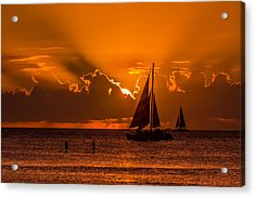 Acrylic Print featuring the photograph Hawaiian Sunset by RC Pics