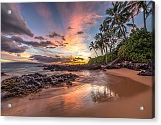 Hawaiian Sunset Wonder Acrylic Print