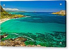 Hawaiian Water Acrylic Print by Michael Misciagno