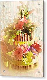 Hawaiian Wedding Cake Acrylic Print by Susan Bordelon