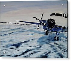 Acrylic Print featuring the painting Hawker - Airplane On Ice by Marilyn  McNish
