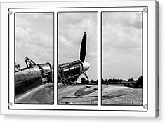 Hawker Hurricane Tryptych Acrylic Print by Chris Thaxter