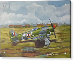 Acrylic Print featuring the painting Hawker Tempest by Murray McLeod