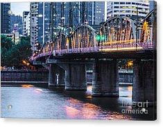 Hawthorne Bridge Portland Oregon Acrylic Print