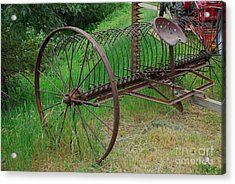 Acrylic Print featuring the photograph Hay Rake by Ron Roberts