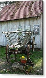 Acrylic Print featuring the photograph Hay Wagon by Steve Godleski