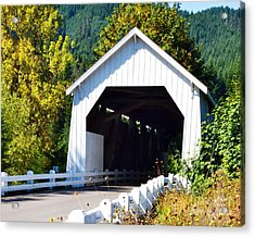 Hayden Covered Bridge Acrylic Print